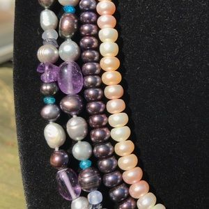 FOUR Honora Cultured Freshwater Pearl Necklaces